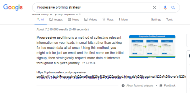 Progressive profiling strategy - Google Search