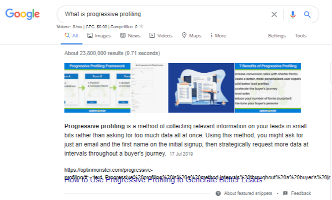 What is progressive profiling - Google Search