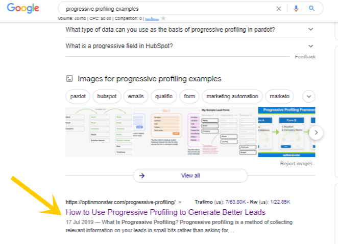 progressive profiling examples - Google Search