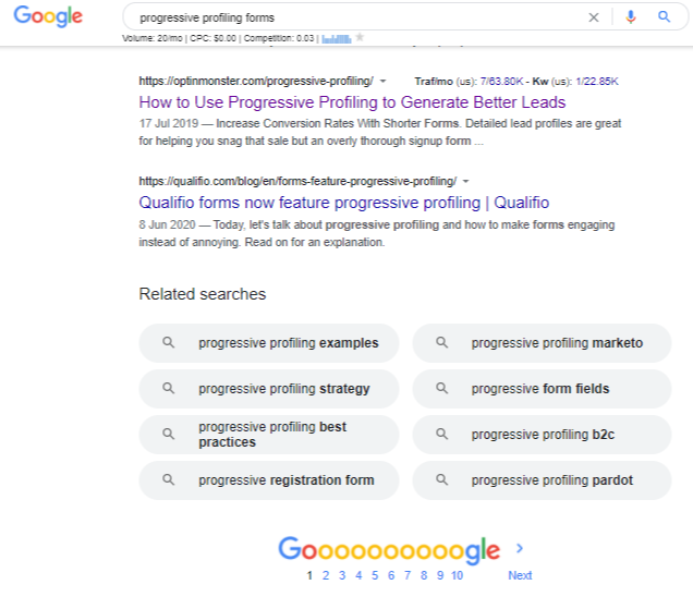 progressive profiling forms - Google Search