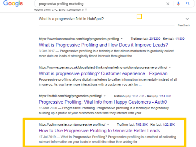 progressive profiling marketing - Google Search